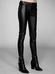 Casual Sheath Leather Pants