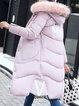 Long Sleeve Casual Hoodie Printed Fur And Shearling Coat
