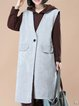 Cotton Plain Casual Sleeveless Vests And Gilet