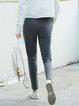 Cotton Simple Solid Straight Leg Pants