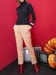 Casual Long Sleeve Turtleneck Intarsia Sheath Sweater