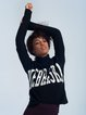 Long Sleeve Intarsia Casual Letter Sweater