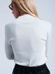 Silver-Color Long Sleeve Crew Neck Solid Sweater