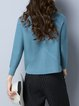 Knitted Solid Casual Long Sleeve Crew Neck Sweater