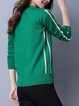 Crew Neck Knitted Long Sleeve Casual Sweater