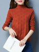 Long Sleeve Slit Knitted Casual Sweater