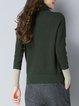 Casual Long Sleeve Turtleneck Knitted Sweater