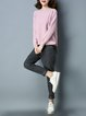 Long Sleeve Casual Asymmetric Knitted Sweater