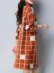 Turtleneck Long Sleeve H-line Casual Sweater Dress