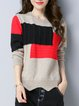 Long Sleeve Cable Casual Sweater