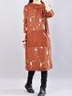 Casual Cotton Hoodie H-line Long Sleeve Dress
