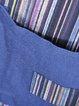 Plus Size Casual Pockets Long Sleeve Crew Neck Linen Dress