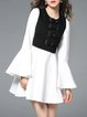 Bell Sleeve Two Piece Casual Dress With Cami