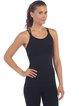 Black Stretchy Nylon Moisture Permeability Sports Bra Camis
