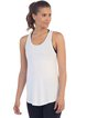 White Rayon Breathable Stretchy Sports Top Tank