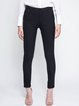 Black Casual Nylon Skinny Leg Pants