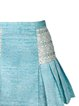 Aqua Beaded Jacquard Girly A-line Mini Skirt