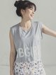 Gray Breathable Letter Sports Top Crop Tops