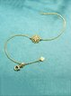 Gold-Color Cubic Zirconia Silver-Color Bracelet