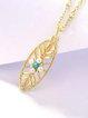 Gold-Color Pearl Silver-Color Necklace