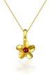 Golden 925 Sterling Silver Garnet Necklace