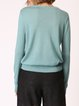 V Neck H-line Solid Casual Long Sleeve Knitwear