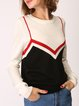 Knitted Intarsia Long Sleeve Shift Casual Sweater