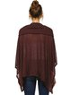 Burgundy Asymmetrical Knitted Casual Slash Neck Poncho And Cape