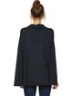 Navy Blue Casual Cowl Neck Knitted Poncho And Cape