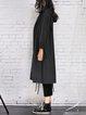 Simple Long Sleeve Hoodie Cotton Coat