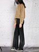Black Woven Casual Wide Leg Pants
