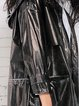 Black H-line Long Sleeve Hoodie Coat