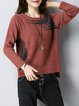 Plus Size Long Sleeve Casual Crew Neck Sweater