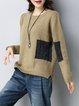 Asymmetric Casual Long Sleeve Crew Neck Sweater