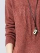 Plus Size Long Sleeve Cable Casual Empair Crew Neck Sweater