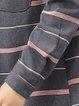 Casual Long Sleeve Stripes Coat