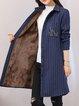 Long Sleeve Shirt Collar H-line Casual Coat