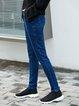 Dark Blue Pockets Casual Jeans