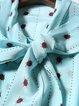 Green Animal Print Bow Casual H-line Silk Blouse