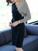 Slit Elegant Long Sleeve Sheath Knitted Sweater Dress