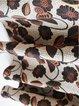 Chiffon Floral Long Sleeve H-line Midi Dress