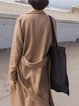 Long Sleeve Buttoned Casual Wool Blend Coat