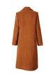 Plus Size Caramel Plain H-line Simple Beaded Coat