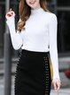 Long Sleeve Solid Casual Lace Guipure Lace Sweater