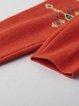 Orange Jacquard Long Sleeve Sweater Dress