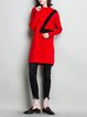 Casual Long Sleeve Ribbed Stand Collar H-line Sweater Dress