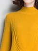 Casual Solid H-line Long Sleeve Turtleneck Sweater