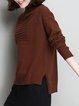 Long Sleeve Casual High Low Asymmetric Sweater