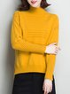 Long Sleeve Casual Asymmetric Sweater