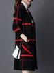 Checkered/Plaid Casual Long Sleeve Cardigan
